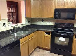 Dark Kitchen Cabinets With Light Granite Home Design Ideas Interesting Granite Countertops And Backsplash