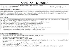 Personal Profile Resume Examples by Interpreter Translator Cv Sample