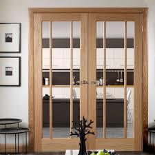 clear glass door oak worcester door pair in standard sizes clear glass