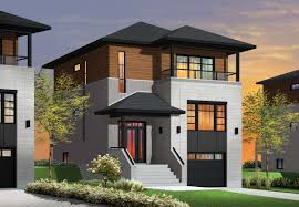 modern house plans for wide lots