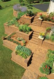 standard retaining wall system patio town
