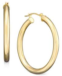 polished hoop earrings in 14k gold earrings jewelry watches
