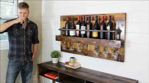 how to build a budget friendly rustic wine rack at home