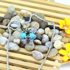 vintage turquoise silver necklace images Vintage necklace for women geometric long pendant charming women jpeg