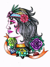 gypsy tattoo design by thehoundofulster on deviantart