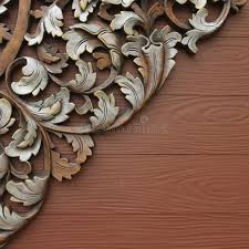 wood carving patterns stock image image of board panel 24993071