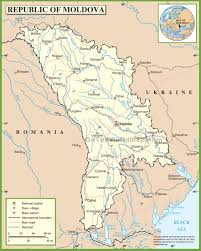 where is moldova on the map moldova road map
