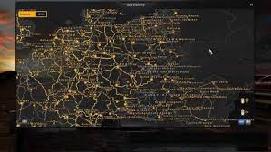 map of germany cities german city names v1 2 for promods and italy hungary map ets 2