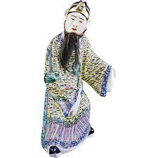 mandarin porcelain porcelain famille mandarin figure with beard from