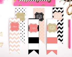 printable bookmarks coco chanel fashion set of 4 2 x 6 inch