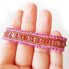 pink beads bracelet images Swarovski pink beads bracelet ombre beads bracelet shop jpg