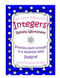 integer worksheet add subtract multiply divide order of