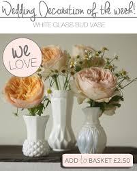 Table Vase Decorations White Bud Vases Wedding Table Decorations