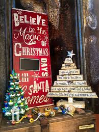 beautiful distressed decorative wood christmas tree with scripture