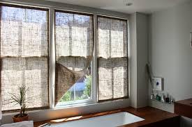 How To Sew Burlap Curtains The Shingled House Burlap Window Shades
