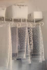fresh hanging bath towels for decoration 15803