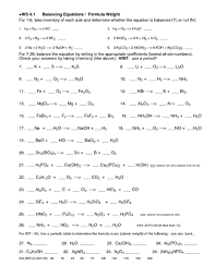 types of reactions worksheet fts e info
