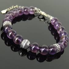 silver energy bracelet images Amethyst crystals silver yoga pilate energy chakra bracelet jpg