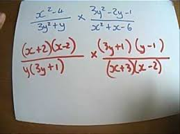 multiplying and dividing algebraic fractions youtube