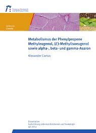 PDF Metabolismus der Phenylpropene Methyleugenol E