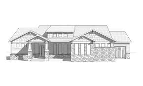 Arts And Crafts Style House Plans Oceanside A Craftsman Style Rambler House Plan Walker Home