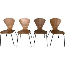 Arne Jacobsen Dining Chairs Set Of 4 Fritz Hansen Model 3204 Dining Chairs Arne Jacobsen