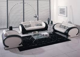 Black Leather Sofa Set Black And White Bonded Leather Sofa Set