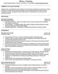 college senior resume best resume collection