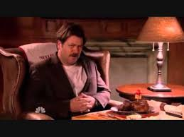 ron swanson u0027s birthday dinner youtube parks and recreation