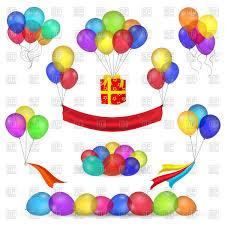 balloon ribbon helium balloons ribbon and flying gift box royalty