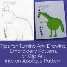 creating an appliqué pattern from a drawing or clip art shiny
