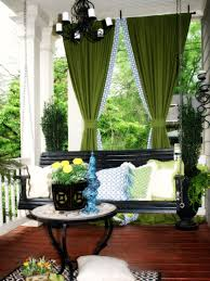 Black Outdoor Curtains Simple Front Porch Area With Green Patio Outdoor Curtains