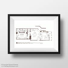 The Jeffersons Apartment Floor Plan Fantasy Floorplan Original Hand Drawn Sketch For I Love Lucy