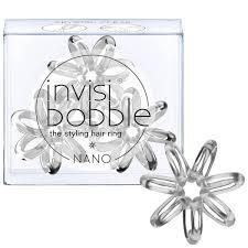 regis nano hair treatment invisibobble nano hair tie 3 pack crystal clear