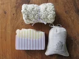 Bath And Shower Gift Sets Bath Gift Set Homemade Lavender Soap Sachet Washcloth Organic