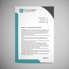 letterhead templates for pages letterhead template design vector free download