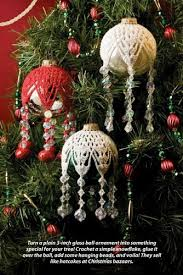 w590 crochet bead pattern only snowflake ornament cover
