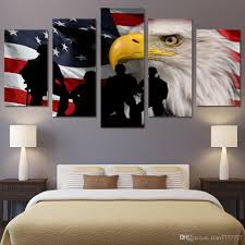 2017 modern home decoration wall picture america flag canvas print 2017 modern home decoration wall picture america flag canvas print painting 5 panel unframed eagle and soldiers paintings for drawing room from tian7777777