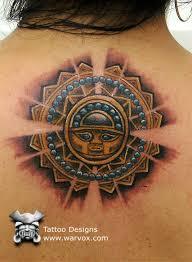silver sun aztec tattoos aztec mayan inca