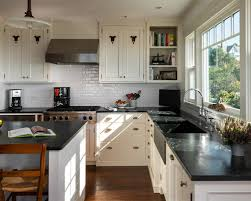 White Kitchen Cabinets With Black Granite White Kitchen Cabinets And Black Countertops Morespoons