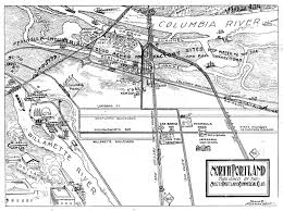 Portland Streetcar Map by North Portland Map 1919 Vintage Portland