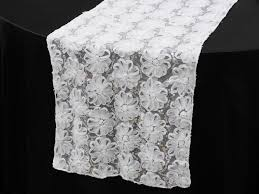 ya ya couture tulle sequin table runner white table runners