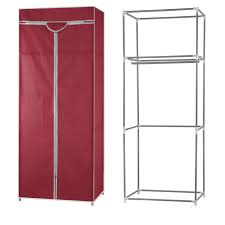 buy kawachi single canvas clothes storage organiser wardrobe