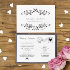 Wedding Invitations Cards Uk Fascinating Post Card Wedding Invitations 64 About Remodel African