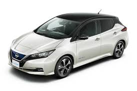 nissan black new nissan leaf 2018 pearl white black roof autobics