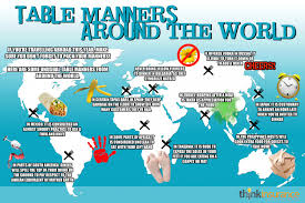 table manners table manners around the world visual ly