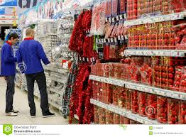 christmas decorations in store editorial stock image image 21158694