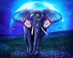 elephant with wings etsy
