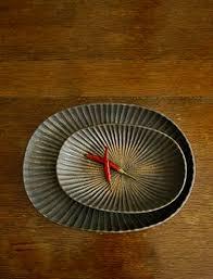 ceramic platter oval platters by japanese ceramic artist yasushi kuno for