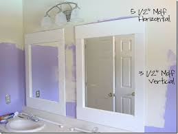 bathroom mirror ideas diy diy bathroom update mirrors moldings bathroom mirror redo and